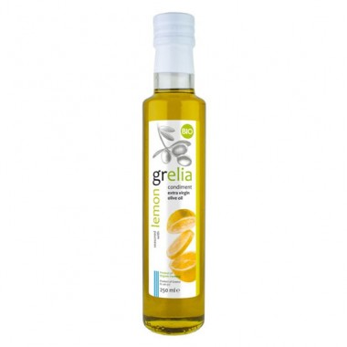 Condiment of extra virgin olive oil and lemon, product of organing farming