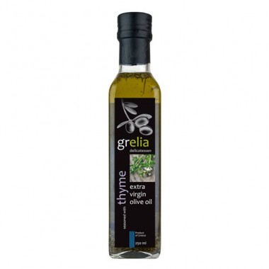 Condiment of extra virgin olive oil and thyme